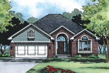 Home Plan Design - Traditional Exterior - Front Elevation Plan #20-468