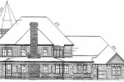 Victorian Style House Plan - 4 Beds 6 Baths 5224 Sq/Ft Plan #72-372 Exterior - Rear Elevation