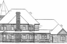 Victorian Exterior - Rear Elevation Plan #72-372