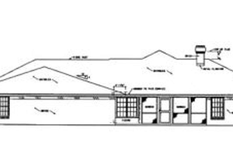 Southern Exterior - Rear Elevation Plan #36-192 - Houseplans.com