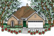 Traditional Style House Plan - 3 Beds 2 Baths 1434 Sq/Ft Plan #42-401 Exterior - Front Elevation