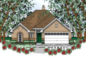Traditional Exterior - Front Elevation Plan #42-401