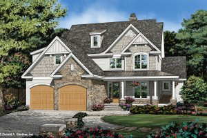 Cottage Exterior - Front Elevation Plan #929-1108