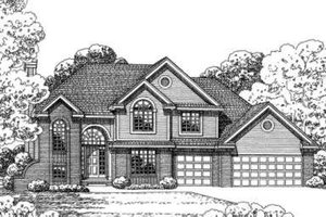 Traditional Exterior - Front Elevation Plan #20-1648