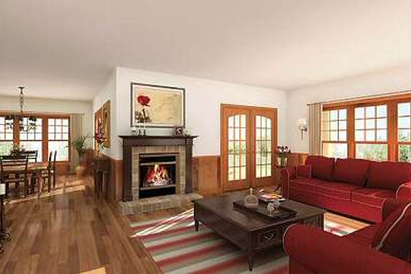 Canadian country style kitchen and family room