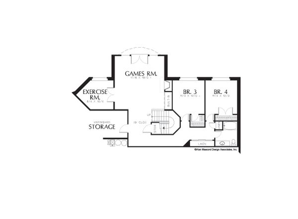 Floor Plan - Upper Floor Plan Plan #48-604