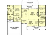 Country Style House Plan - 3 Beds 2 Baths 1834 Sq/Ft Plan #430-83 Floor Plan - Main Floor