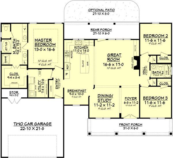 Country Floor Plan - Main Floor Plan #430-83