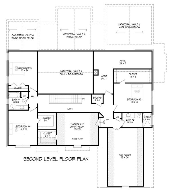 House Plan Design - Country Floor Plan - Upper Floor Plan #932-122