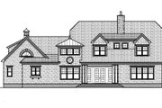 Traditional Style House Plan - 4 Beds 5 Baths 4388 Sq/Ft Plan #413-830 Exterior - Rear Elevation