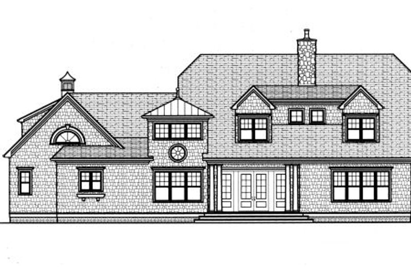Traditional Exterior - Rear Elevation Plan #413-830 - Houseplans.com