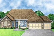 Traditional Style House Plan - 4 Beds 3 Baths 2647 Sq/Ft Plan #67-248 Exterior - Front Elevation