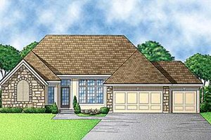 Traditional Exterior - Front Elevation Plan #67-248