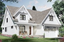 Dream House Plan - Farmhouse Exterior - Front Elevation Plan #51-1172