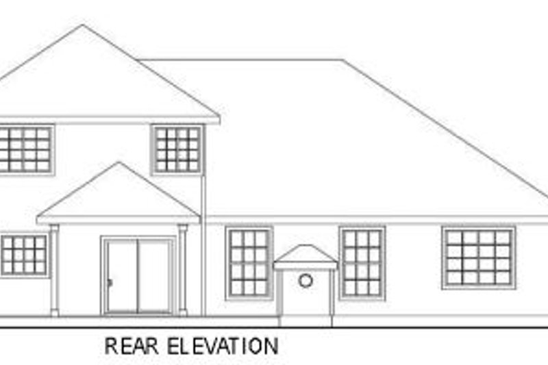 Traditional Exterior - Rear Elevation Plan #124-584 - Houseplans.com