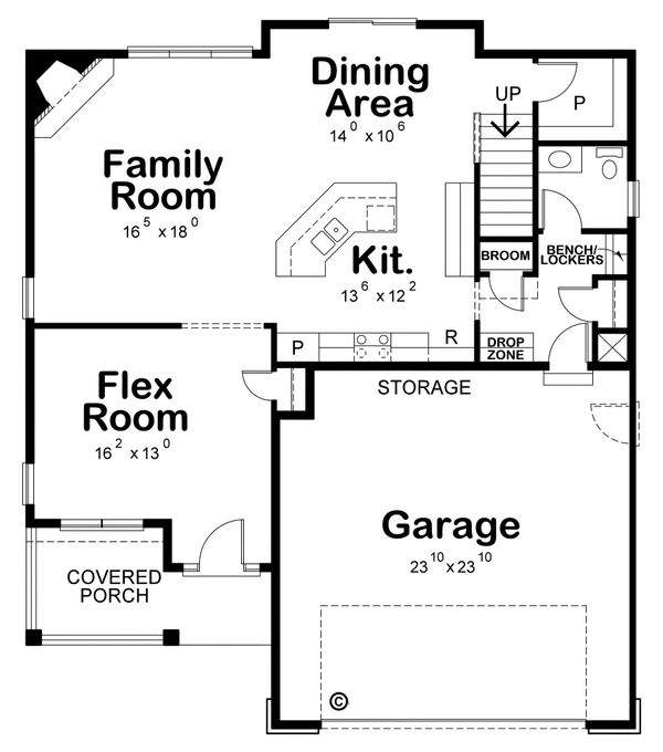 Traditional Floor Plan - Main Floor Plan Plan #20-2196