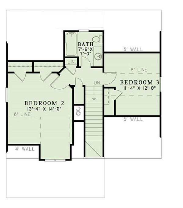 Cottage Floor Plan - Upper Floor Plan #17-2451