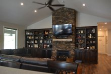 Architectural House Design - Ranch Interior - Family Room Plan #1060-43