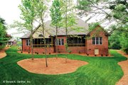 Traditional Style House Plan - 4 Beds 4.5 Baths 3080 Sq/Ft Plan #929-778 Exterior - Rear Elevation
