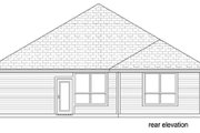 Traditional Style House Plan - 3 Beds 2 Baths 1655 Sq/Ft Plan #84-551 Exterior - Rear Elevation