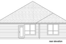 House Plan Design - Traditional Exterior - Rear Elevation Plan #84-551