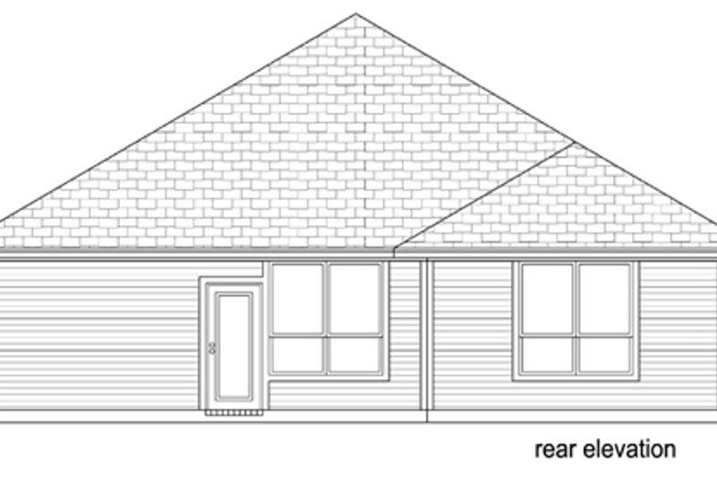 Traditional Exterior - Rear Elevation Plan #84-551 - Houseplans.com