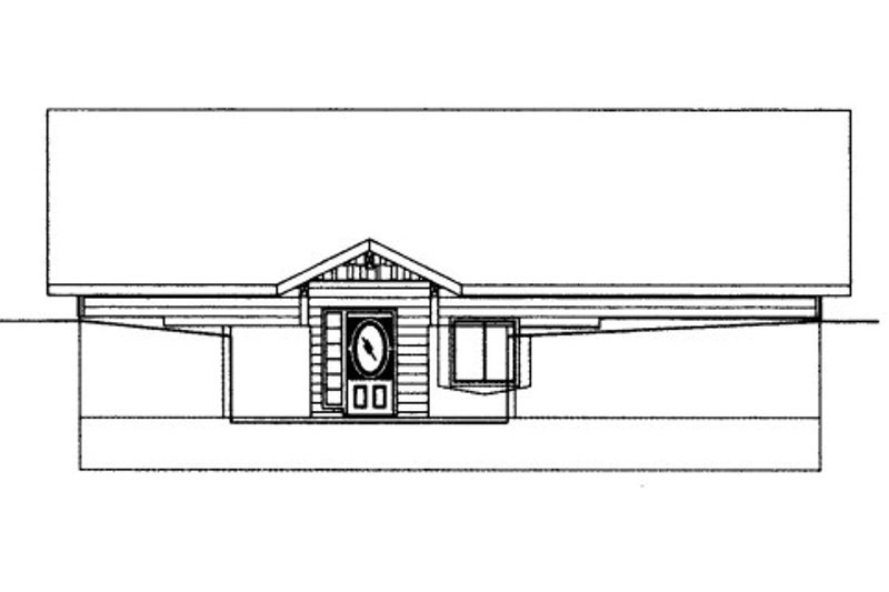 Bungalow Style House Plan - 3 Beds 3 Baths 1824 Sq/Ft Plan #117-622 Exterior - Front Elevation