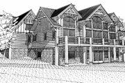 Craftsman Style House Plan - 4 Beds 4.5 Baths 4632 Sq/Ft Plan #451-14 Exterior - Rear Elevation