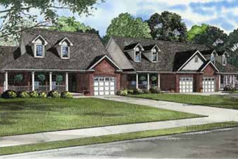 Traditional Style House Plan - 2 Beds 2 Baths 4194 Sq/Ft Plan #17-573 Exterior - Front Elevation