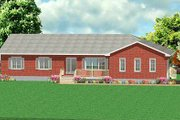 Ranch Style House Plan - 3 Beds 2.5 Baths 1887 Sq/Ft Plan #414-112 Exterior - Front Elevation