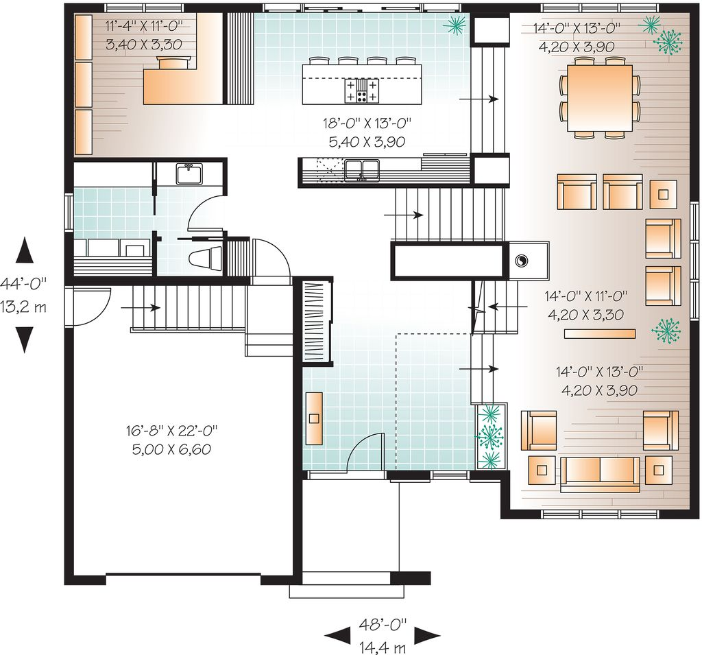 22 Feet By 45 Modern House Plan With 4 Bedrooms: 4 Beds 2.5 Baths 3198 Sq/Ft Plan