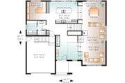 Modern Style House Plan - 4 Beds 2.5 Baths 3198 Sq/Ft Plan #23-2237 Floor Plan - Main Floor Plan