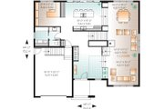 Modern Style House Plan - 4 Beds 2.5 Baths 3198 Sq/Ft Plan #23-2237 Floor Plan - Main Floor