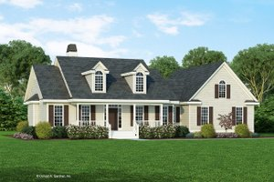 House Plan Design - Farmhouse Exterior - Front Elevation Plan #929-1046