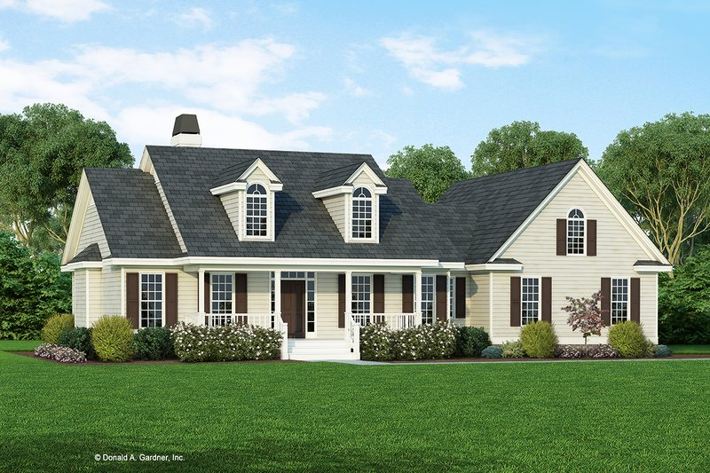 Farmhouse Style House Plan - 3 Beds 2.5 Baths 1929 Sq/Ft Plan #929-1046 Exterior - Front Elevation