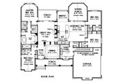 Traditional Style House Plan - 4 Beds 4.5 Baths 3080 Sq/Ft Plan #929-778 Floor Plan - Main Floor Plan