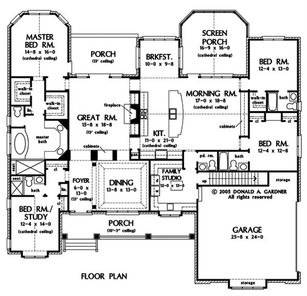 Dream House Plan - Traditional Floor Plan - Main Floor Plan #929-778