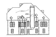 Country Style House Plan - 4 Beds 3 Baths 2163 Sq/Ft Plan #927-8 Exterior - Rear Elevation