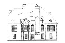 Country Exterior - Rear Elevation Plan #927-8