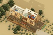 Contemporary Style House Plan - 1 Beds 1 Baths 399 Sq/Ft Plan #917-6 Exterior - Other Elevation