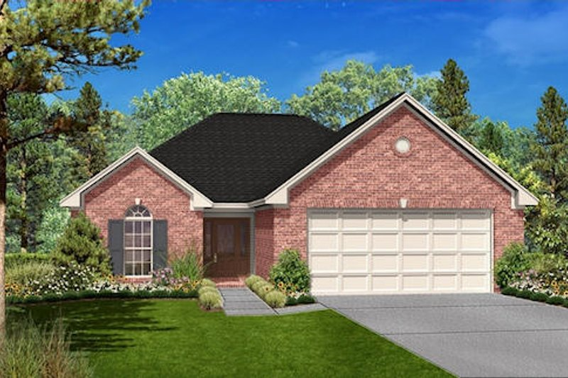 Traditional Style House Plan - 3 Beds 2 Baths 1700 Sq/Ft Plan #430-24