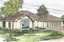 Home Plan - Mediterranean Exterior - Front Elevation Plan #124-253