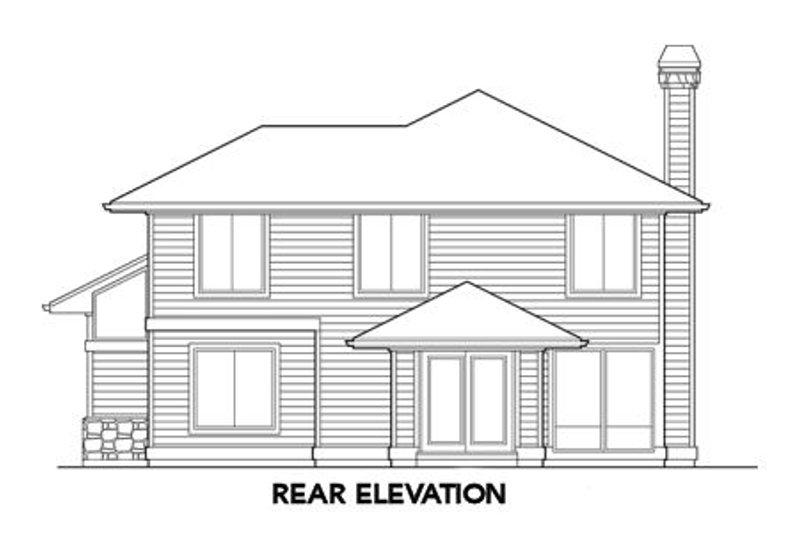 Prairie Exterior - Rear Elevation Plan #48-304 - Houseplans.com