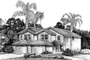 Traditional Style House Plan - 3 Beds 2.5 Baths 2778 Sq/Ft Plan #303-127 Exterior - Front Elevation