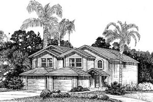 Traditional Exterior - Front Elevation Plan #303-127