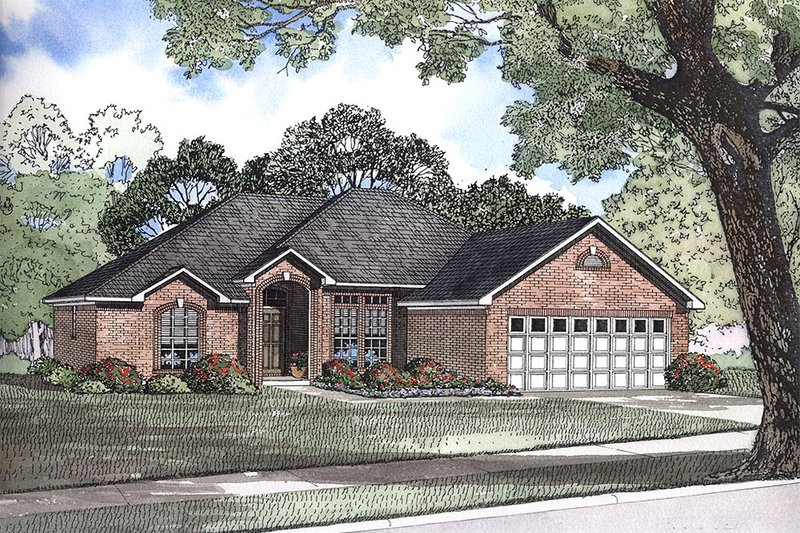 Traditional Style House Plan - 3 Beds 2 Baths 1636 Sq/Ft Plan #17-1145