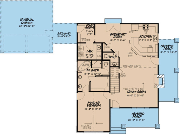Cottage Floor Plan - Main Floor Plan Plan #923-118
