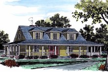 Architectural House Design - Country Exterior - Front Elevation Plan #315-107