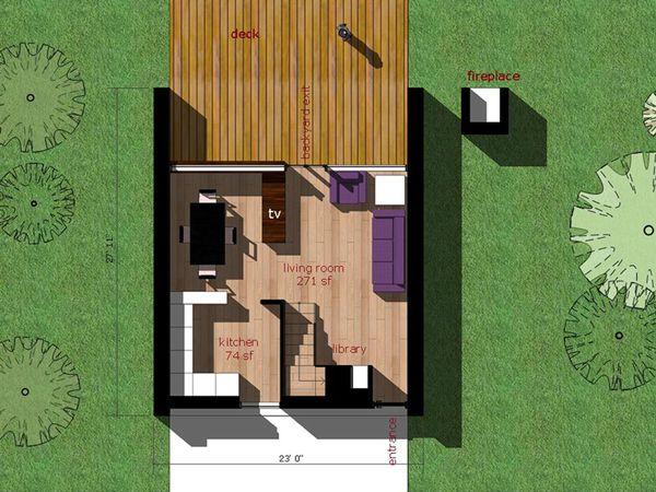 Modern Floor Plan - Main Floor Plan Plan #473-3