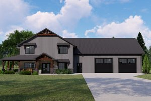 Home Plan - Farmhouse Exterior - Front Elevation Plan #1064-127
